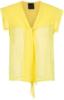 Andrea Bogosian silk sheer blouse