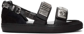 Toga Virilis Black Dual Strap Sandals