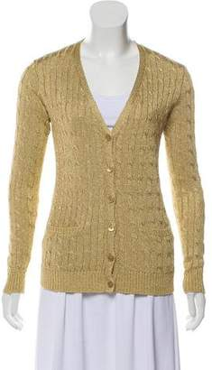 Ralph Lauren Metallic Lightweight Knit Cardigan