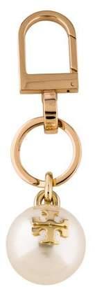 Tory Burch Logo Faux-Pearl Keychain