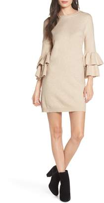 BB Dakota Ruffle Sleeve Sweater Dress