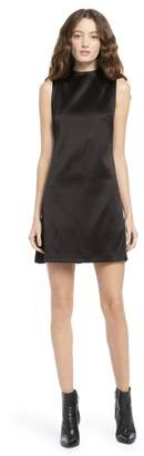 694032500438 Alice + Olivia Coley Mock Neck Mini Dress