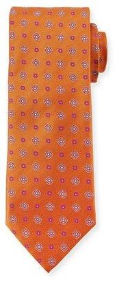Canali Woven Foulard Silk Tie, Rust $160 thestylecure.com