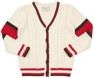 Gucci Wool Cable Knit Cardigan