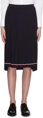 Thom Browne Stripe hem pleated knit skirt