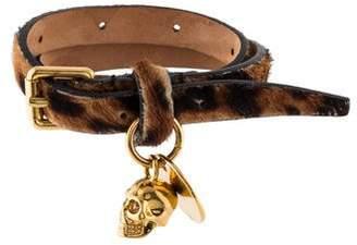 Alexander McQueen Double Wrap Calf Hair Bracelet