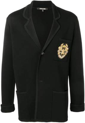 Roberto Cavalli embroidered logo jacket