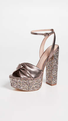 48b23bdc24ab Rachel Zoe Claudette Glitter Platform Sandals