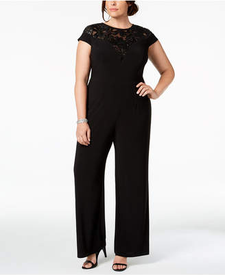 Adrianna Papell Plus Size Sequined Jersey Jumpsuit