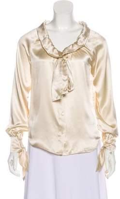 Robert Rodriguez Silk Long Sleeve Blouse