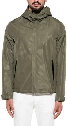 Woolrich Army Green Atlantic Camouflage Hooded Jacket