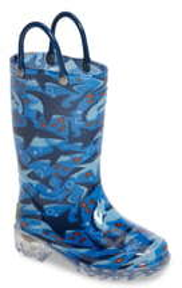 Western Chief Shark Chase Light-Up Rain Boot