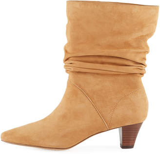 Splendid Nica Slouchy Suede Low-Heel Booties