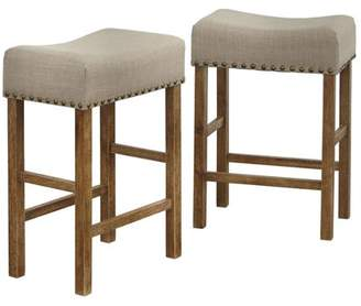 "Tms Hathaway 24"" Counter Height Nailhead Stool"