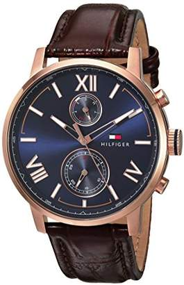 Tommy Hilfiger Men's 'Alden' Quartz Stainless Steel and Leather Casual Watch