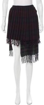 Hache Asymmetrical Wool Skirt w/ Tags