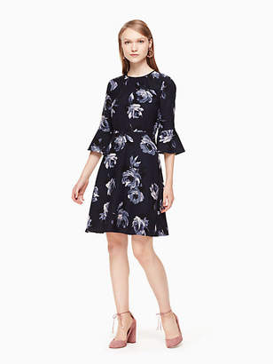 Night rose crepe dress