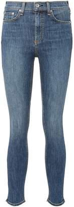 Rag & Bone Frayed cuff skinny jeans