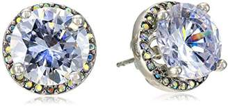 Betsey Johnson Women's Rhodium Stud Medium Earrings Stud Earrings