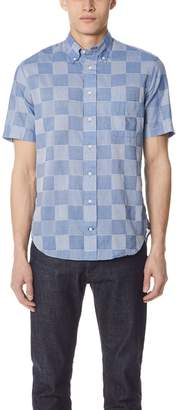 Gitman Brothers Patchwork Shirt with Short Sleeves
