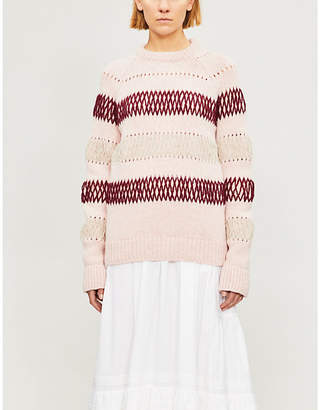 Calvin Klein Striped chunky-knit wool jumper