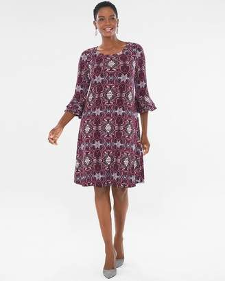 Chico's Chicos Paisley Bell-Sleeve Dress