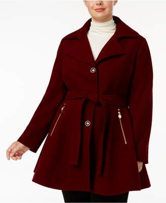 INC International Concepts I.n.c. Plus Size Skirted Walker Coat