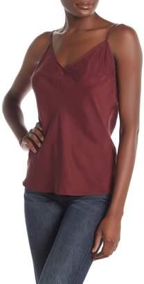 Frame Solid V-Neck Silk Camisole