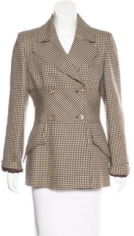 ValentinoValentino Wool Herringbone Coat
