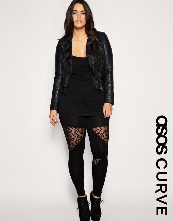 ASOS CURVE Panelled Lace Legging
