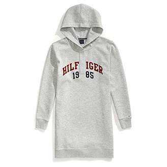 Tommy Hilfiger Adaptive Women's Hoodie Sweatshirt Dress with Magnetic Buttons