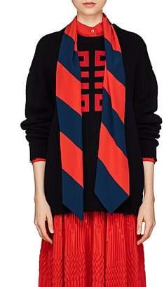 Givenchy Women's Logo Intarsia-Knit Cotton Sweater - Navy
