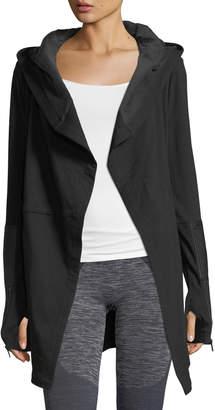 Blanc Noir Traveler Long Jacket w/Leather Trim