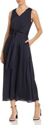 Lafayette 148 New York Ambrosia Tie-Front Maxi Dress