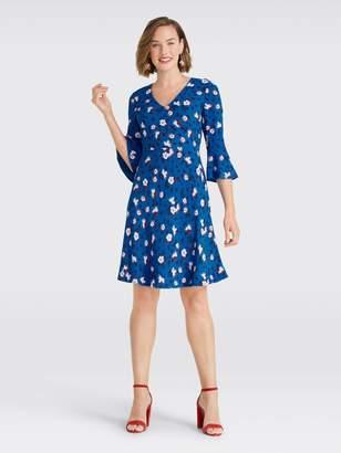 Draper James Floral A-Line Bell Sleeve Dress