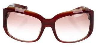 Oscar de la Renta Gradient Oversize Sunglasses