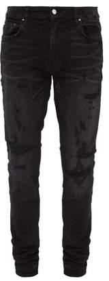 Amiri Bruise Distressed Skinny Fit Jeans - Mens - Black
