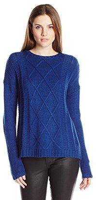 Buffalo David Bitton Women's Bullette Sequin Elbow Patch Pullover Sweater $43.70 thestylecure.com