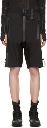 Y-3 SPORT Black Rain Zip Shorts $590 thestylecure.com