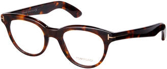 Tom Ford TF5378 Dark Brown Havana Cateye Frames