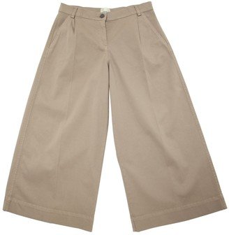 Fendi Stretch Wide Leg Gabardine Pants