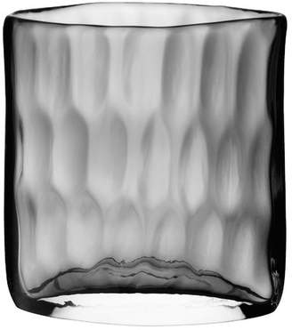 LSA International Dimpled Short Glass Vase