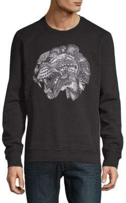 Just Cavalli Graphic Cotton Sweatshirt