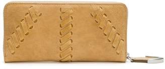 Frye Jacqui Whipstitch Leather Zip Wallet