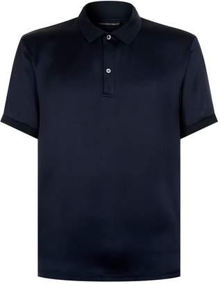 Alexander McQueen Silk Satin Polo Shirt
