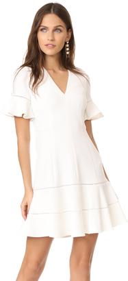 Rebecca Taylor V Neck Textured Dress $425 thestylecure.com