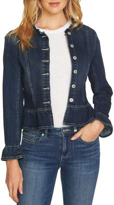 CeCe Ruffled Denim Jacket