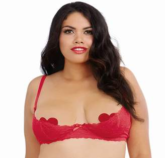 2ed4500965790 Dreamgirl Women s Plus Size Lace Open Cup Underwire Shelf Bra