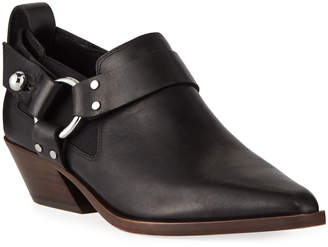 Rag & Bone Leather Western Harness Ankle Booties
