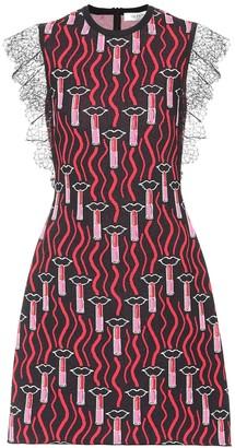Valentino Lipstick Waves knit dress